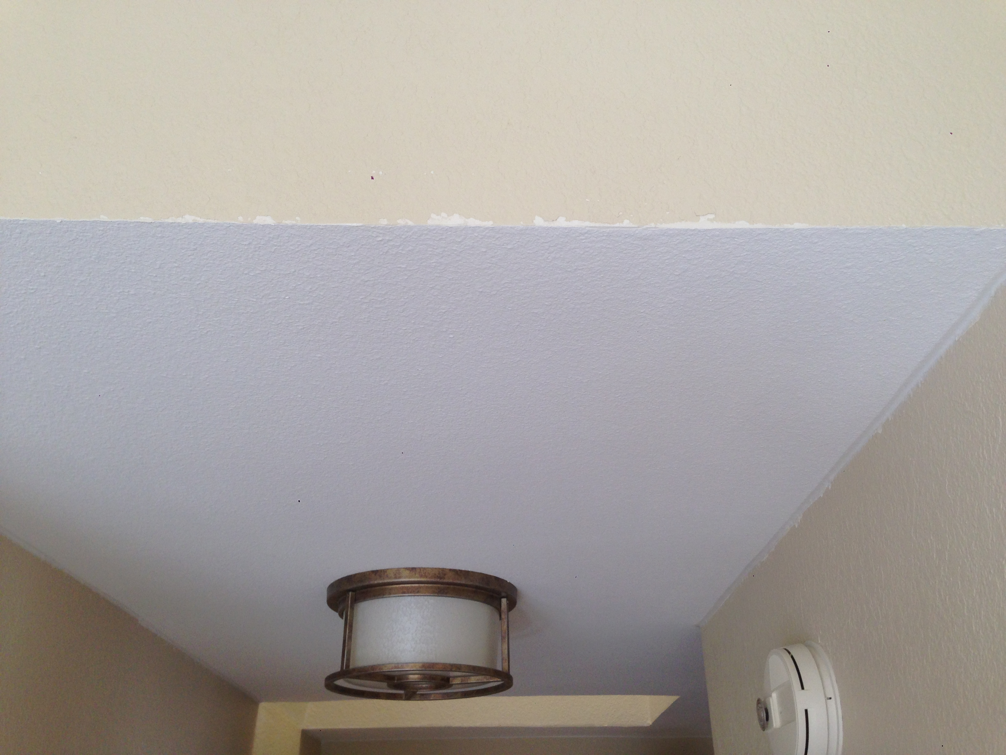removal southernly inspired ceilings demolition renovation kitchen ceiling popcorn